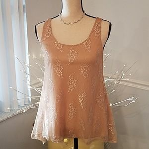 Romeo & Juliet Couture sleeveless lacy tunic, S.